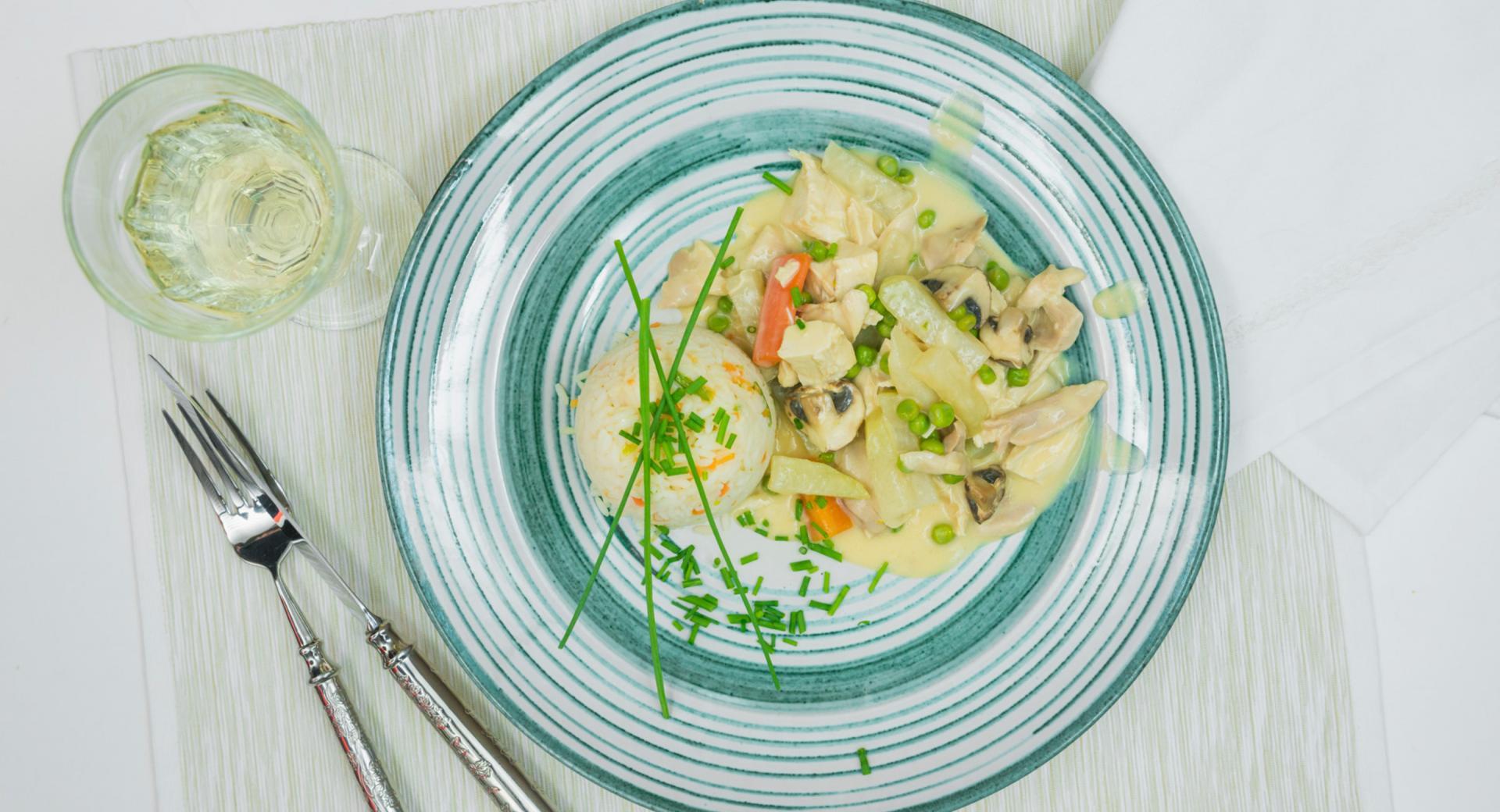 Guiso de pollo con verduras