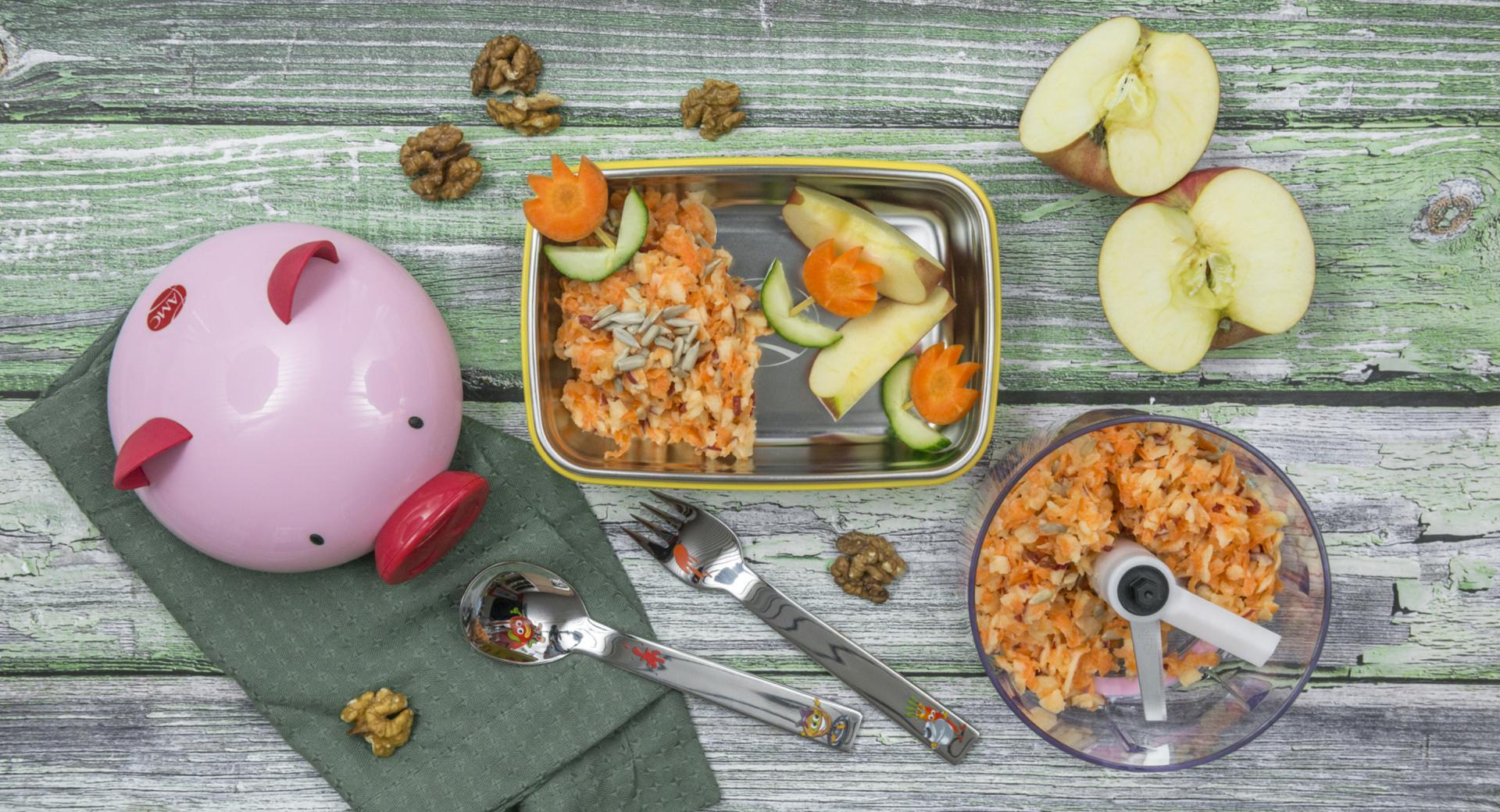 Ensalada De Manzana De Zanahoria Infantil Descubre con nosotros por qué son tan saludables. la comunidad de recetas amc