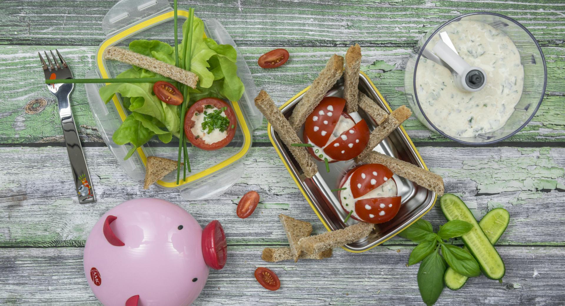 Mariquita de tomate rellena