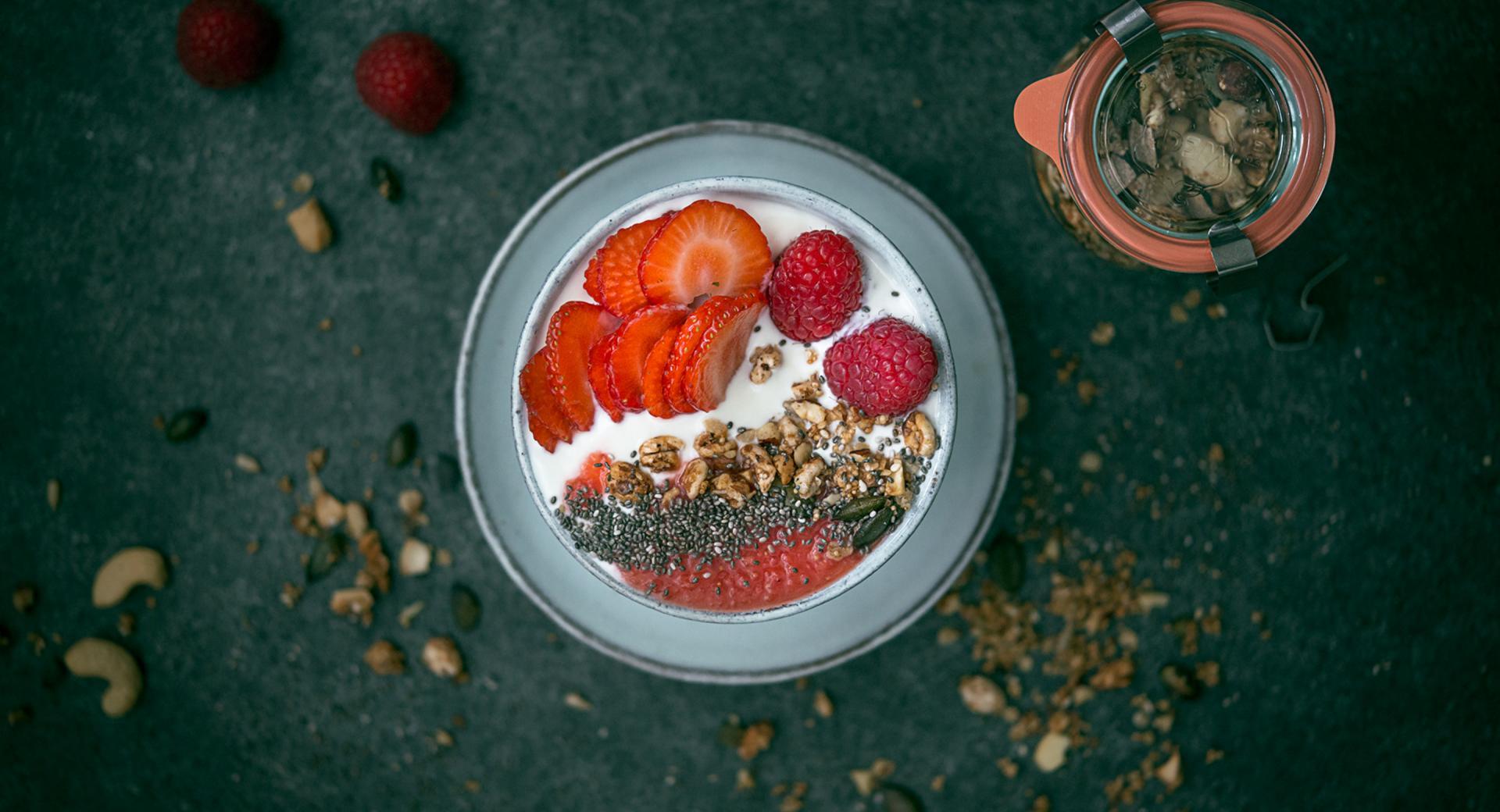 Granola de cereales y semillas