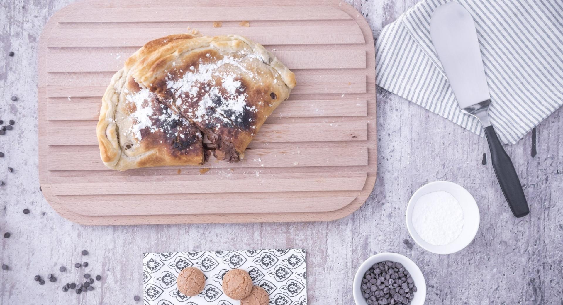 Calzone de Nutella, pera y galleta