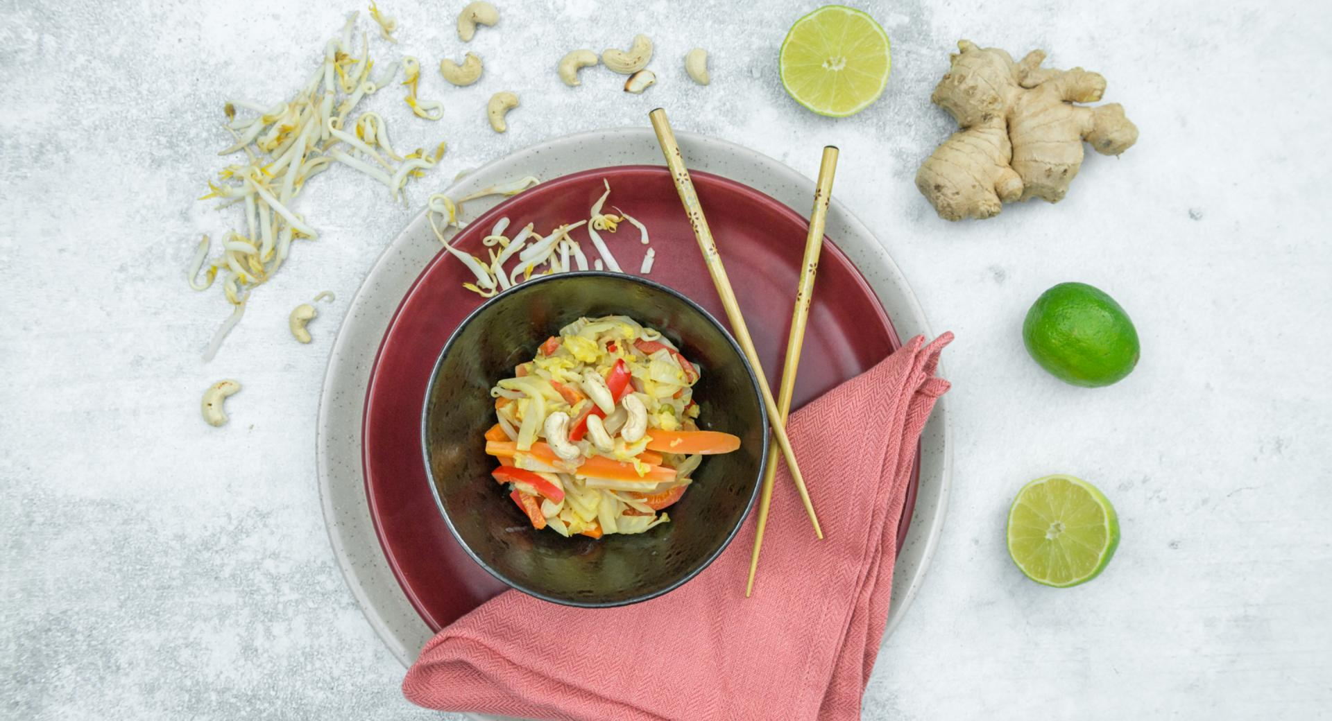 Verduras al curry con leche de coco