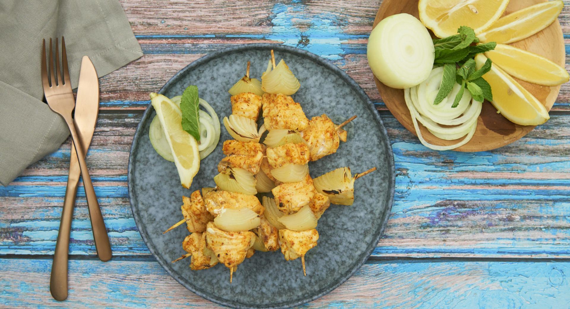 Pinchitos de pescado de la India