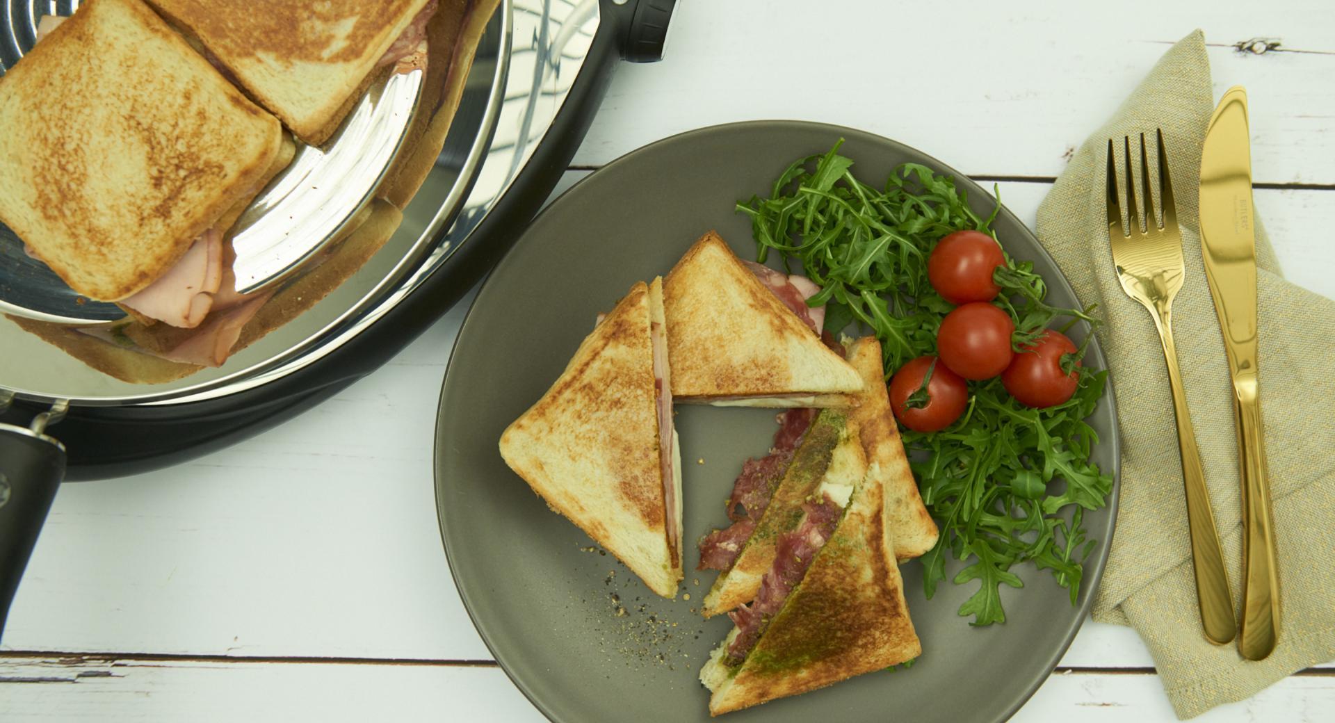 Sándwich picante Croque Monsieur