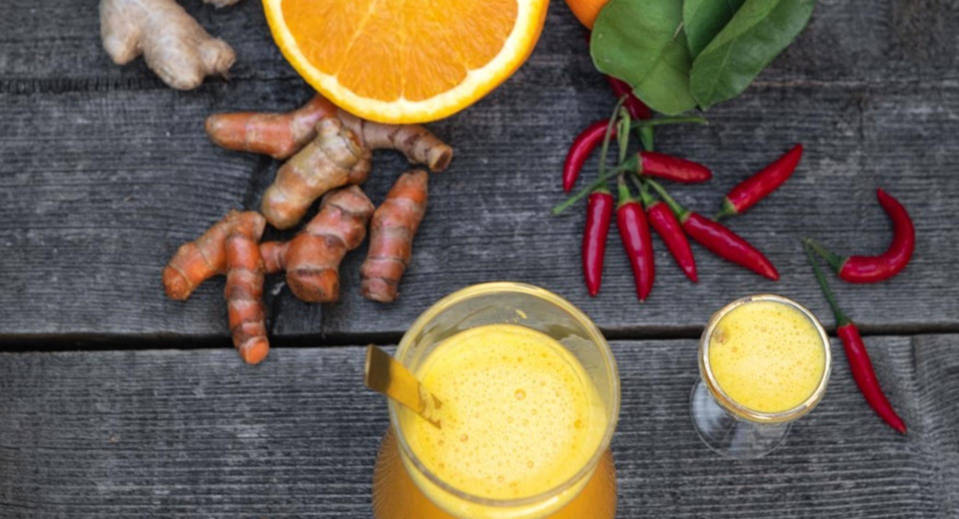 Chupito de jengibre y naranja-mejora tu sistema inmunológico