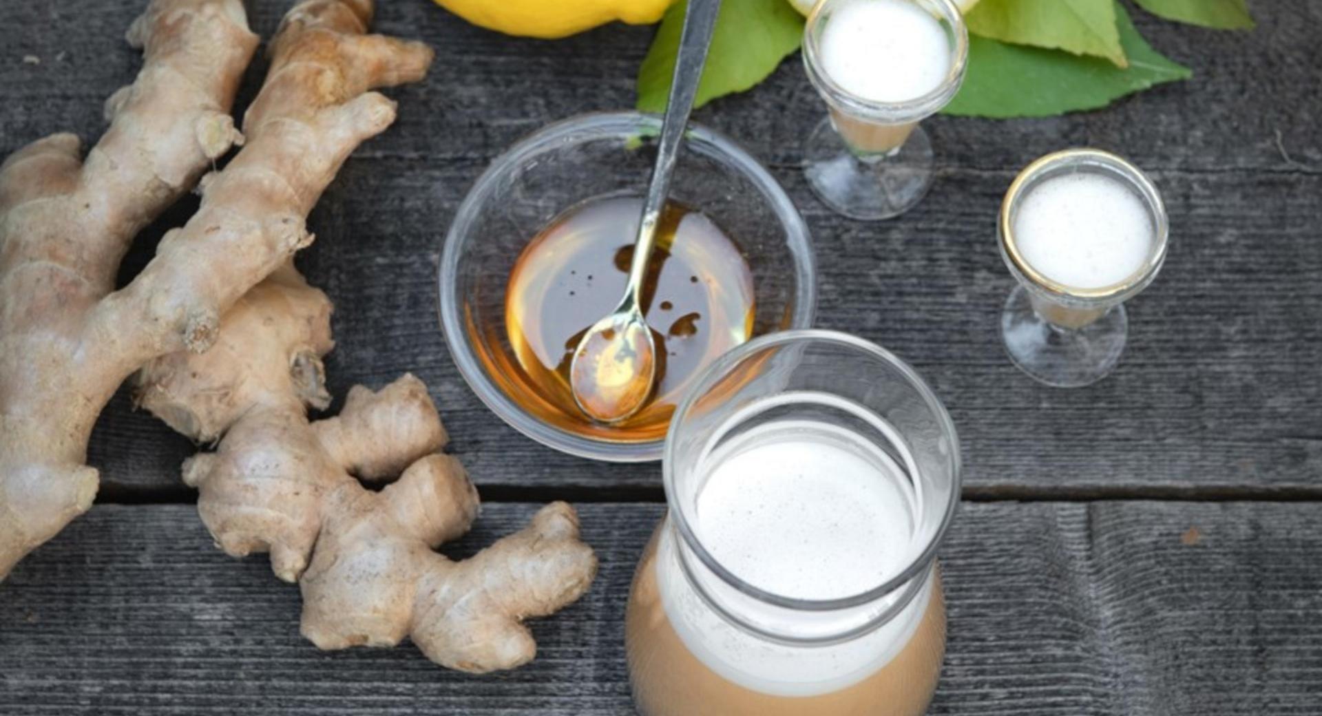 Chupito de jengibre y limón- ayuda tus defensas