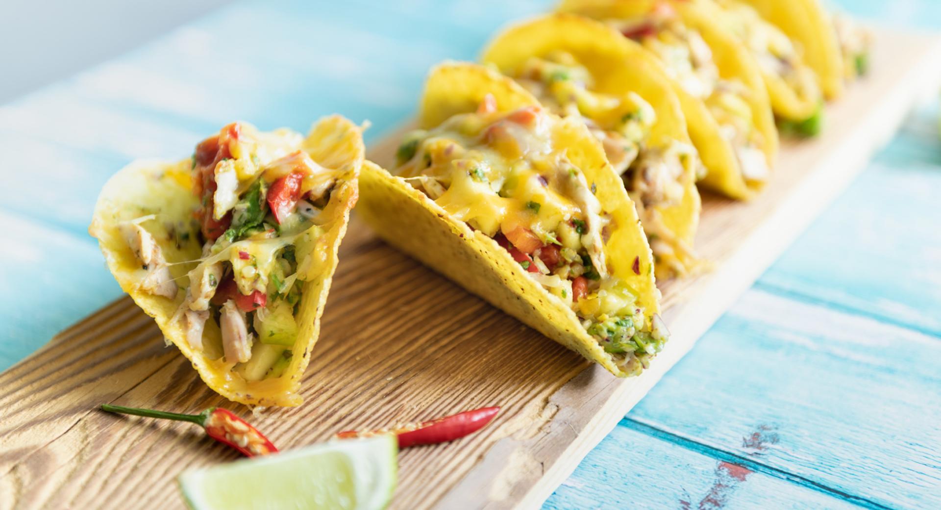 Tacos gratinados