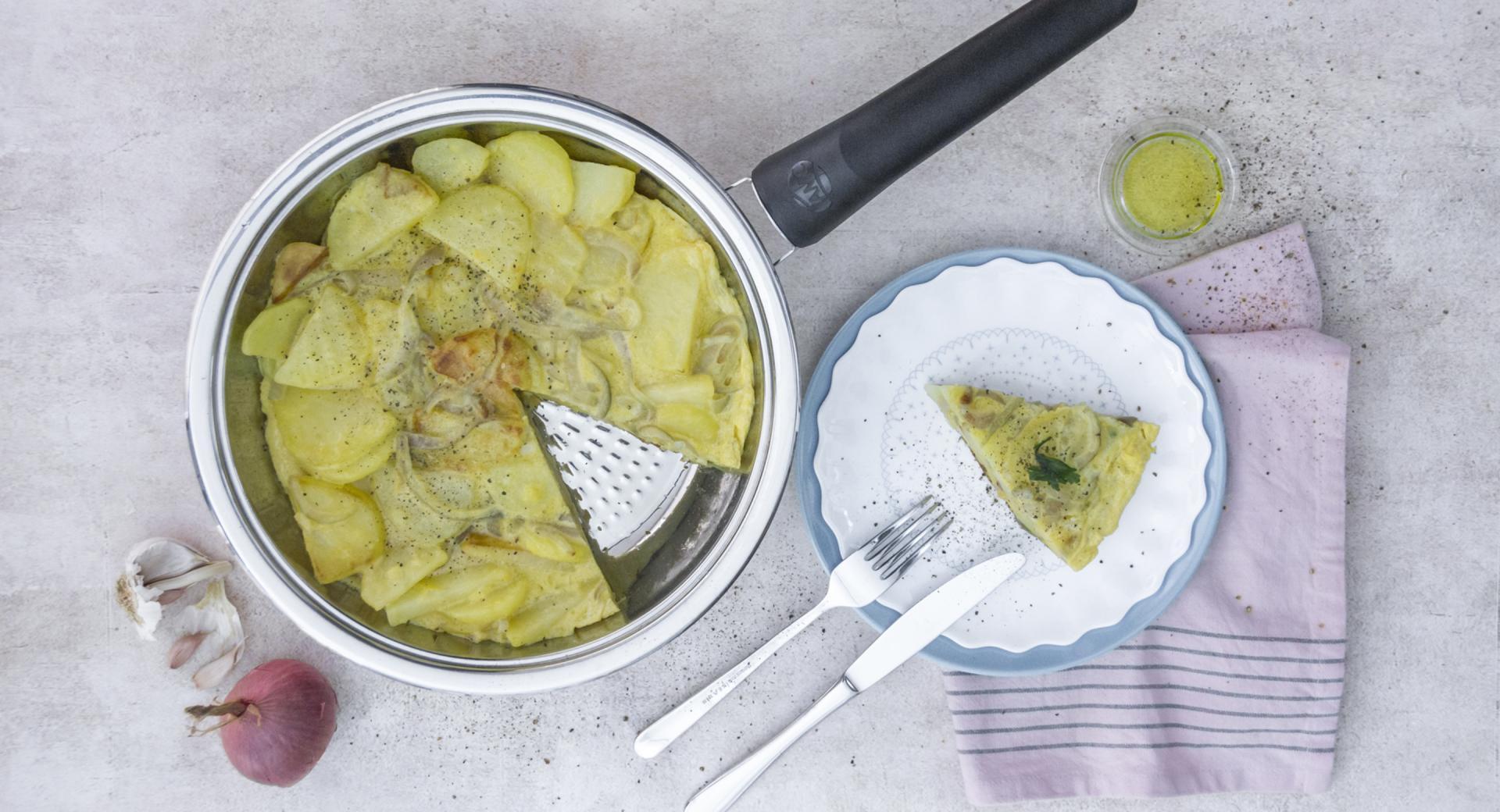 Tortilla de patatas (sin voltear)