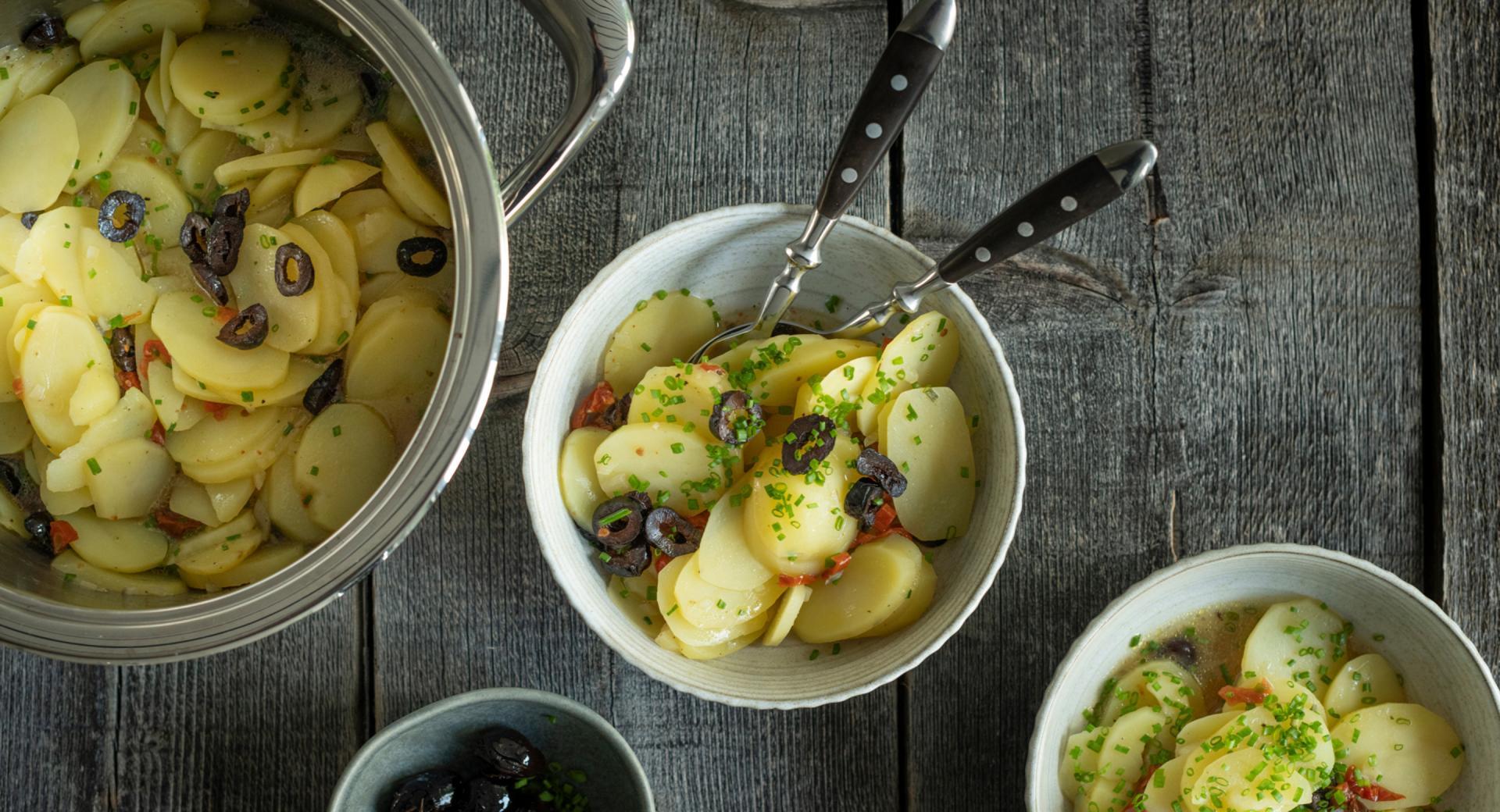 Ensalada de patatas rápida