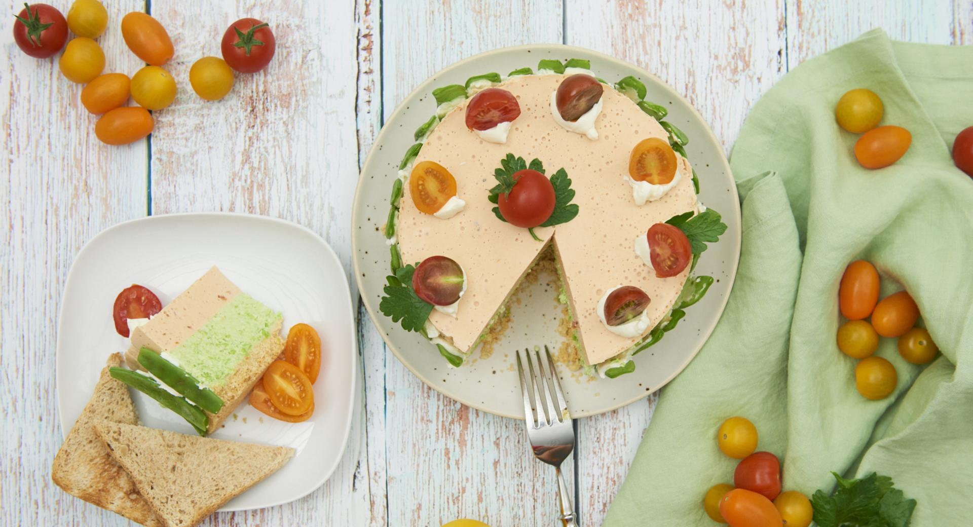 Pastel salado tricolor