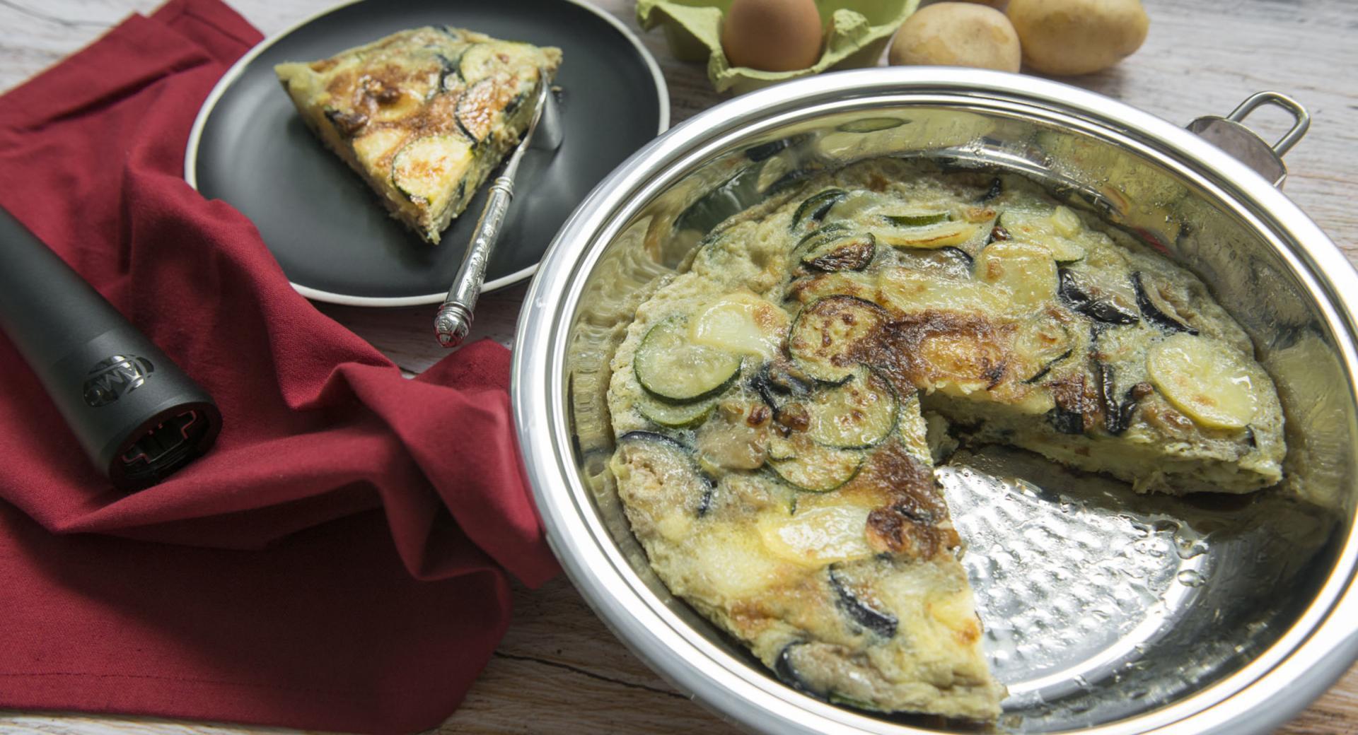 Tortilla de patatas y verduras