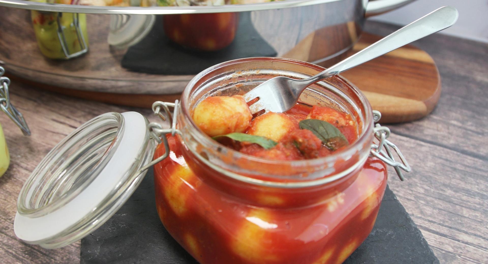 Ñoquis con salsa de tomate - Vasocottura