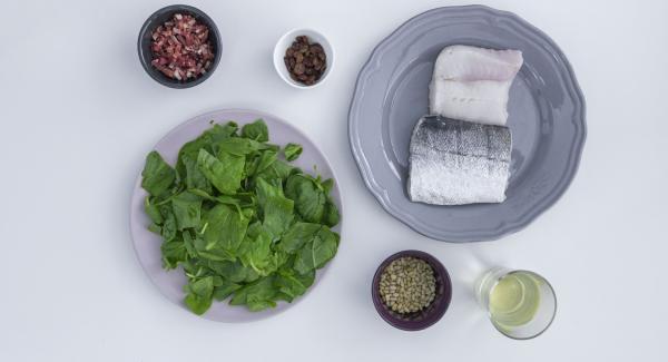 Preparación de ingredientes