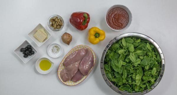 Preparación de los ingredientes