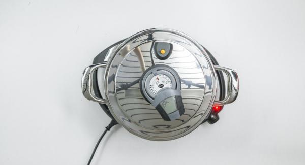 """Cuando el Avisador (Audiotherm) emita un pitido al llegar a la ventana de """"chuleta"""", bajar temperatura de Navigenio (nivel 2) y quitar la tapa Súper-Vapor"""