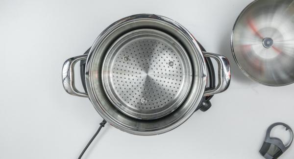 """Cuando el Avisador (Audiotherm) emita un pitido al llegar a la ventana de """"chuleta"""", colocar la Softiera (sin asa) e introducir los tarros."""