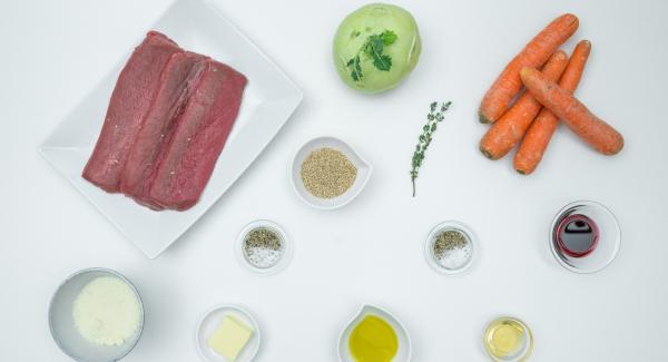 Preparación de los ingredientes.