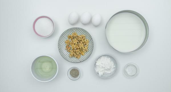 Preparación de los ingredientes: