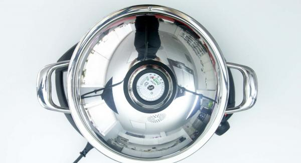 Cuando el Avisador (Audiotherm) emita un pitido al finalizar el tiempo de cocción, dejar reposar 15 minutos más tapado.