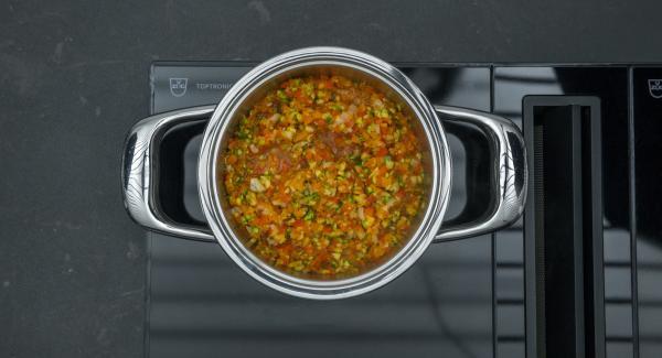 """Cuando el Avisador (Audiotherm) emita un pitido al llegar a la ventana """"zanahoria"""" bajar temperatura y cocinar hasta el final."""