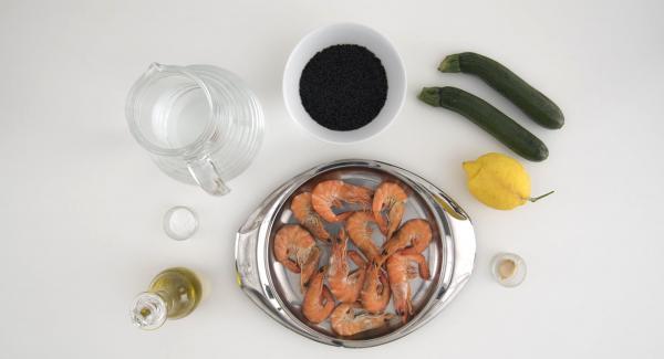 Preparacion de los ingredientes.
