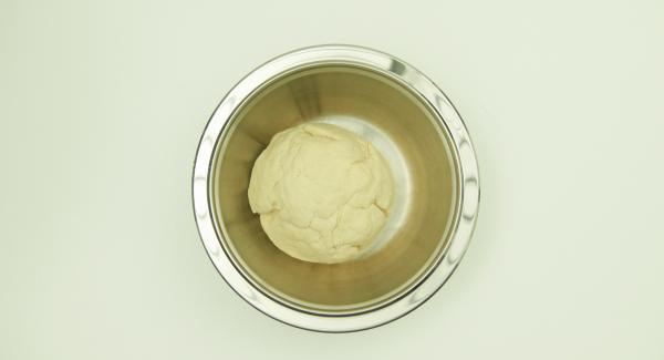 Mezclar todos los ingredientes hasta obtener una masa homogénea y dejar reposar durante una hora a temperatura ambiente.