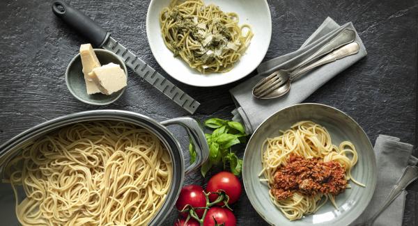 Espaguetis en Oval