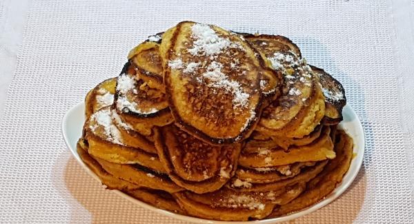 Luego al plato y lo presentamos con un poco de azucar por encima o miel.