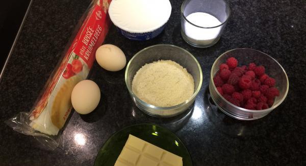 Preparamos todos los ingredientes.