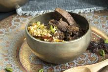 Ragú de cordero y cuscús picante estilo marroquí