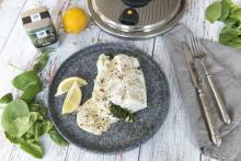 Sándwich de pescado relleno de espinacas con especias AMC Pure
