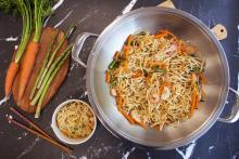 Fideos en wok