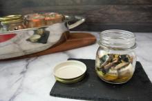 Lubina con setas y algas- Vasocottura