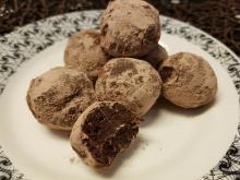 Trufas de castañas y chocolate